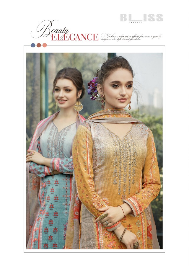 Bliss presenting dazzle beautiful casual runninh wear digital printed collection of salwar kamesz