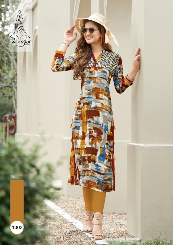 diksha fashion presents rich berry casual ready to wear beautiful kurtis concept