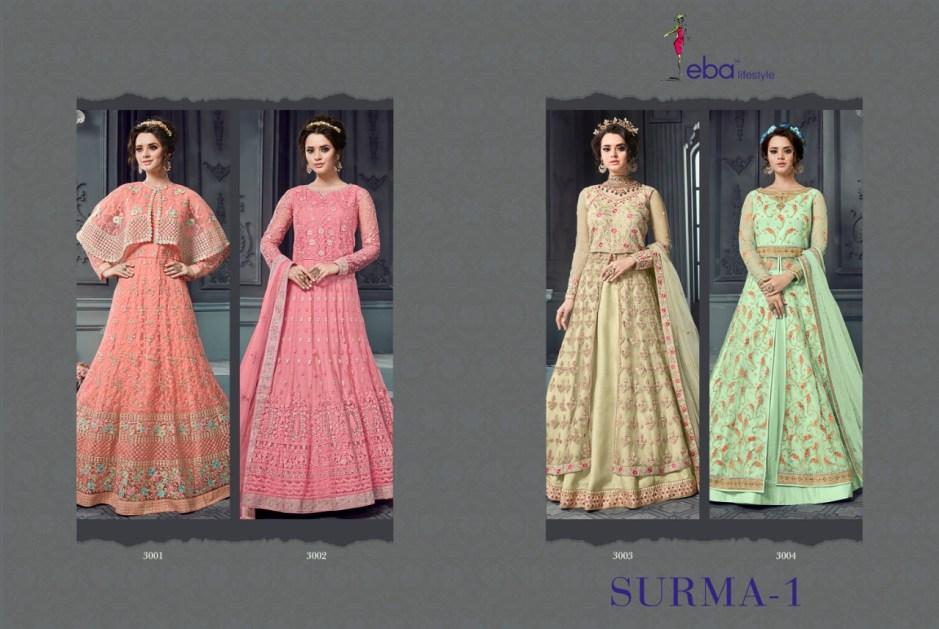 Eba lifestyle presents surma vol 1 designer party wear gowns concept