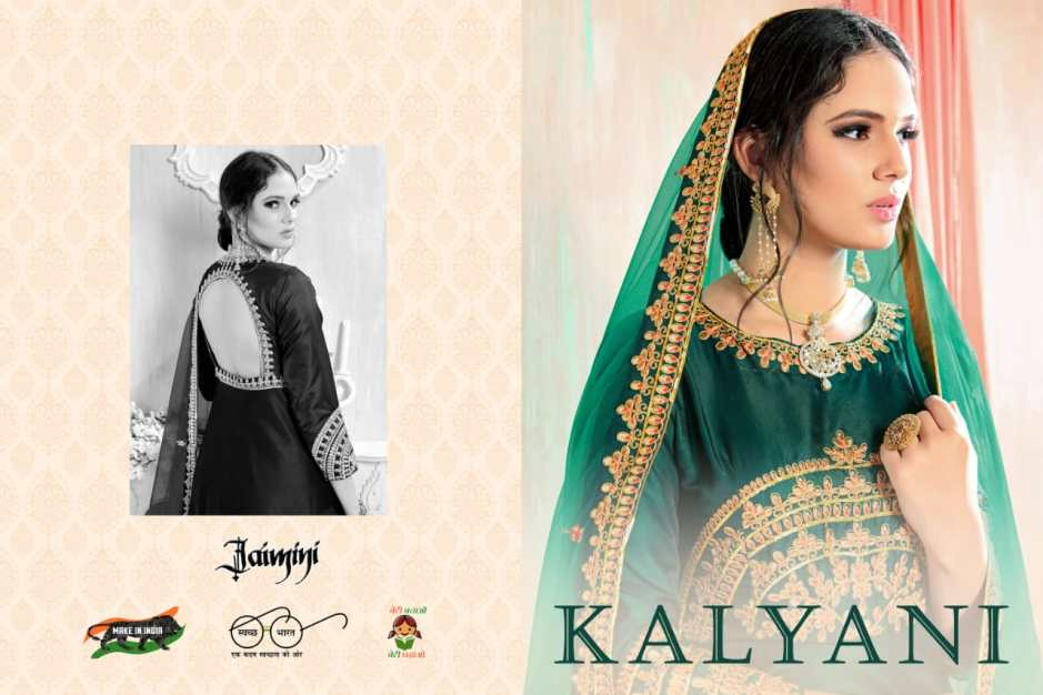 Jaimini presents kalyani party Wear gowns collection