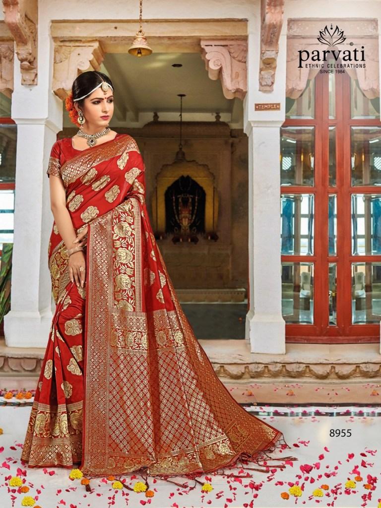 Parvati launch silk rapier vol 3 beautiful rich look sarees collection