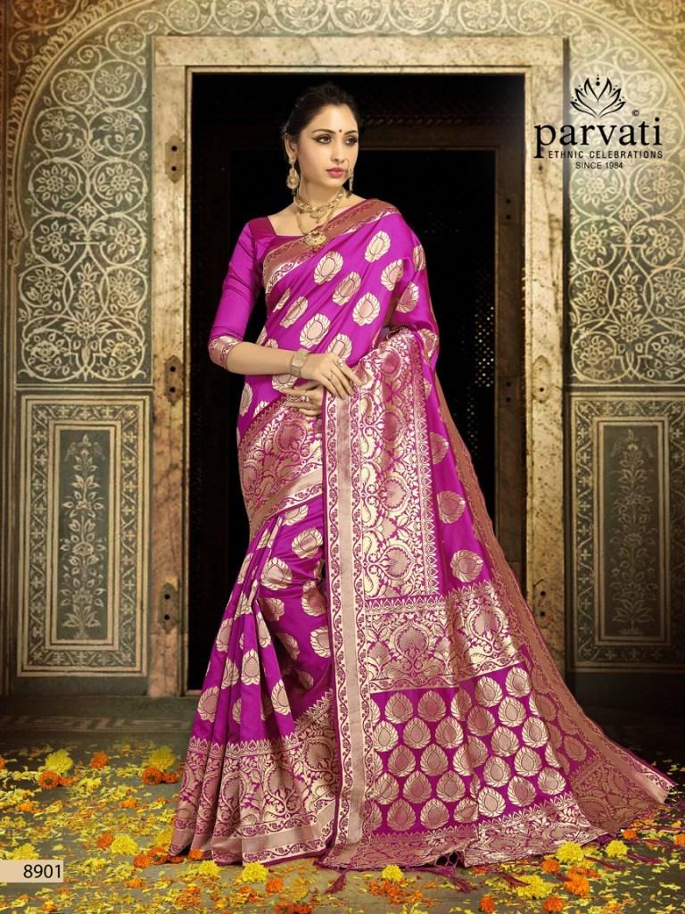 Parvati presents SILK RAPIER VOL-1 rich look sarees collection