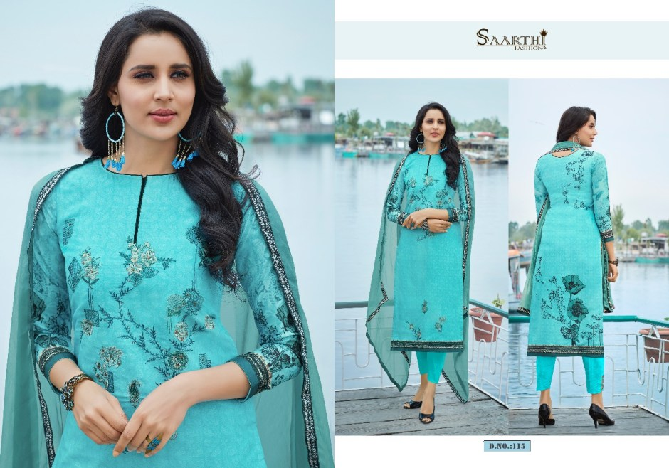 Saarthi fashion presenting kasturi beautiful collection of salwar kameez