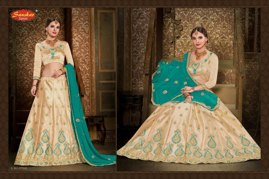 Sanskar Sarees pressnts creamy vol 2 festival season beautiful  lehengha collection