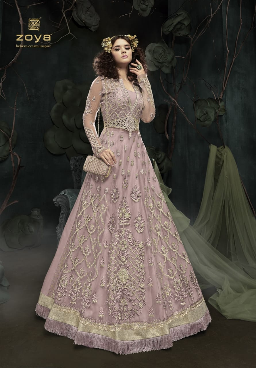 Zoya presenting sparkle colors vol 2 party wear designer gowns ...