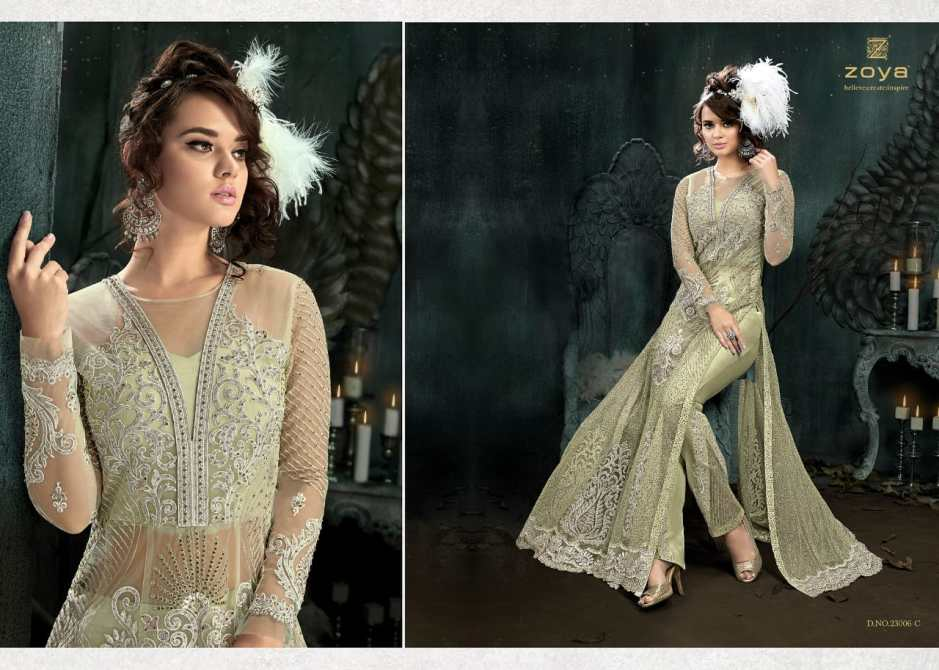 Zoya presenting sparkle colors vol 2 party wear designer gowns collection