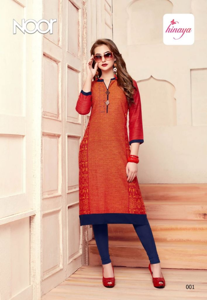 HINAYA noor beautiful casual ready to wear kurtis concept