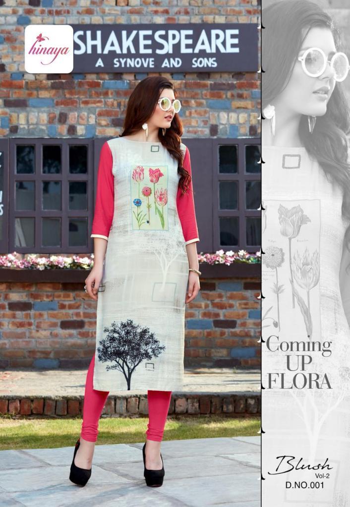 HINAYA presenting blush vol 2 casual daily wear printed kurtis concept