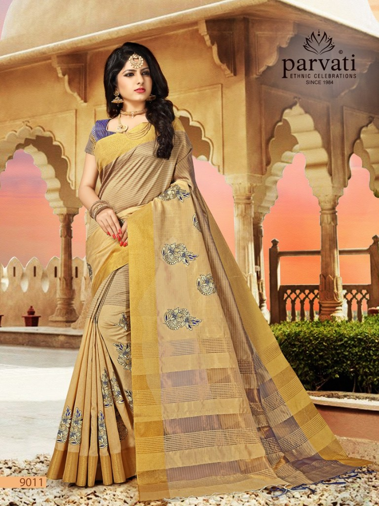 parvati presenting silk fusion vol 11 stylish rich look silk sarees collection
