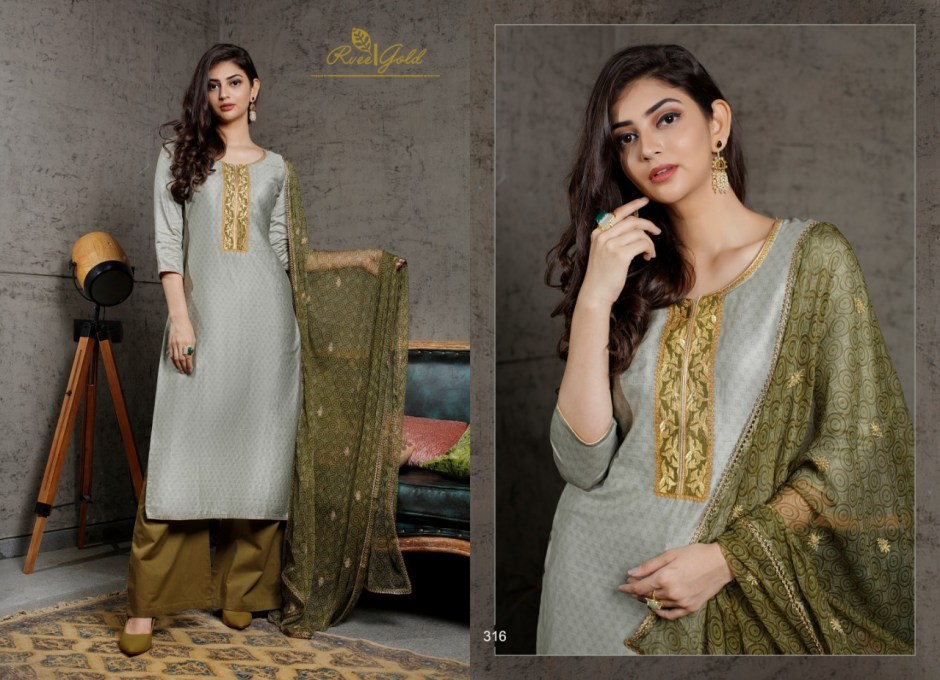 Rvee gold launch festive crush casual elegant look collection of salwar kameez