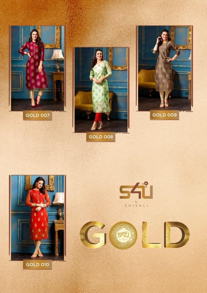 S4U Gold traditional coming festive season Kurtis concept