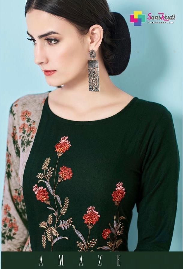27c8f22a14 Sanskruti silk mills pvt ltd presenting amaze stylish party wear kurtis  collection