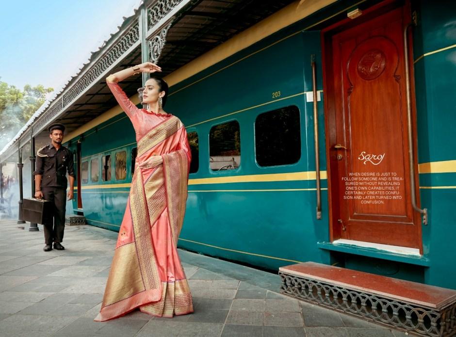 Saroj presenting soundarya Ethnic pure banarasi silk heavy rich look sarees collection