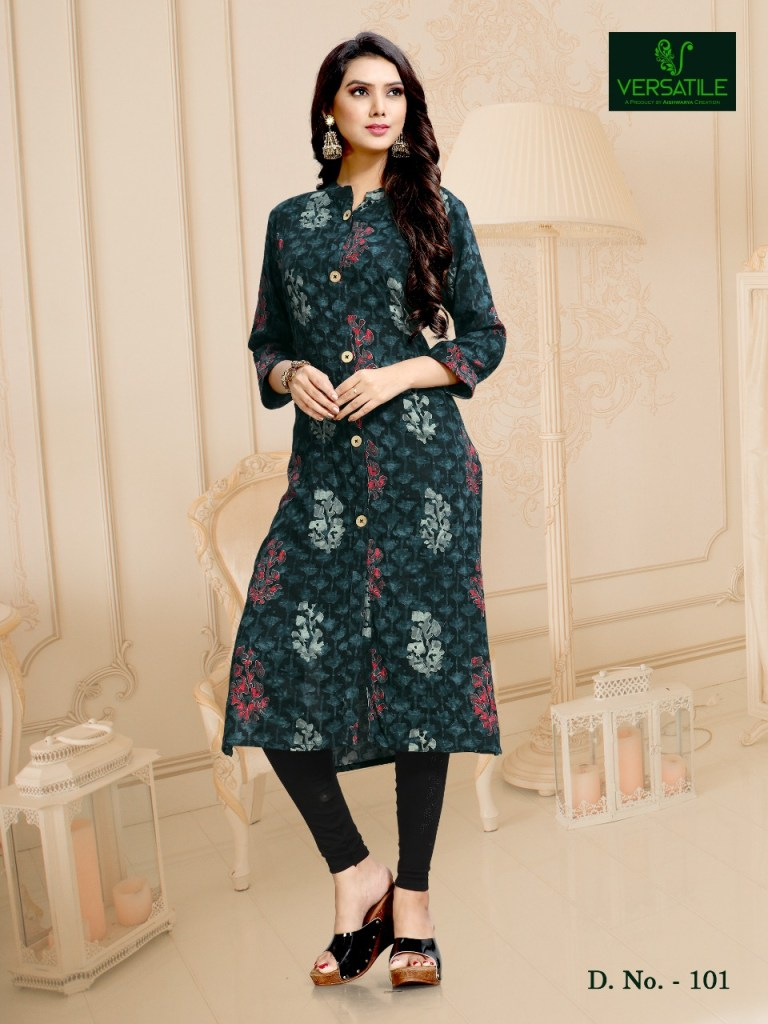 Versatile presents celebration casual simple ready to wear kurtis concept