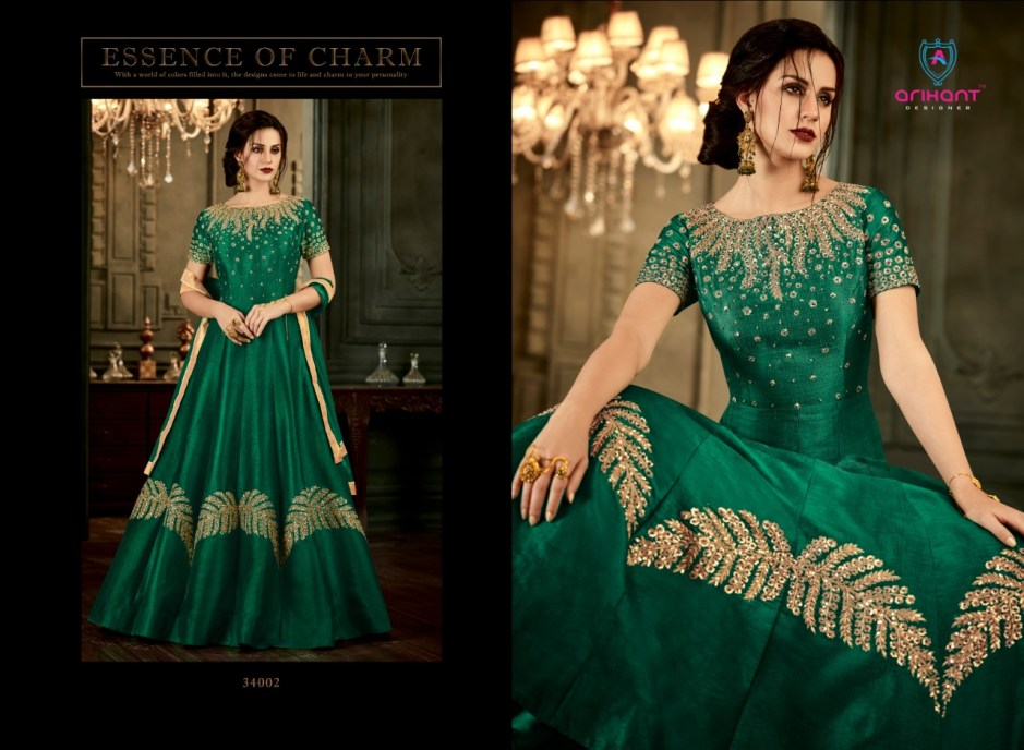Arihant designer presenting rangat heavy Festive special stylish collection of gowns