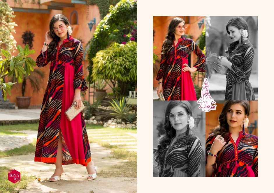 Diksha fashion presenting riya vol 1 casual ready To wear kurtis concept