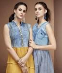 DIVA designer launch FLASHY vol 3 denim western look trendy kurtis concept