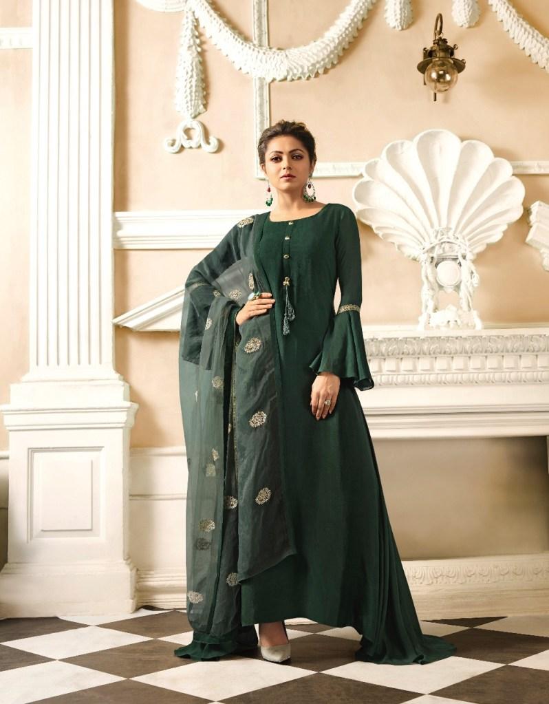 LT fabrics presenting nitya vol 34 NX stylish party wear Gown Style Kurtis concept