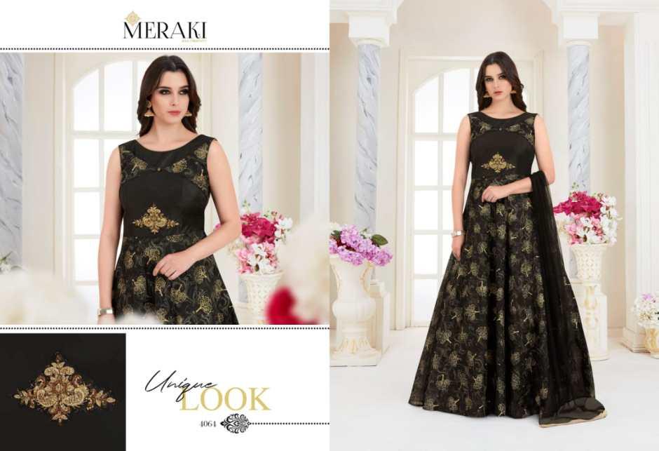 Meraki rangat by sanskar sarees Fancy party wear gowns concept