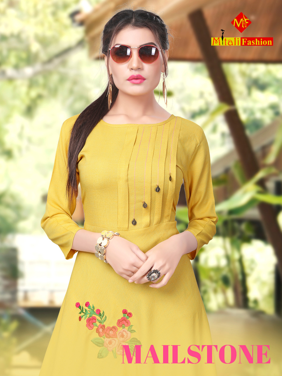 Mitali fashion presents mailstone casual fancy gown style kurtis collection