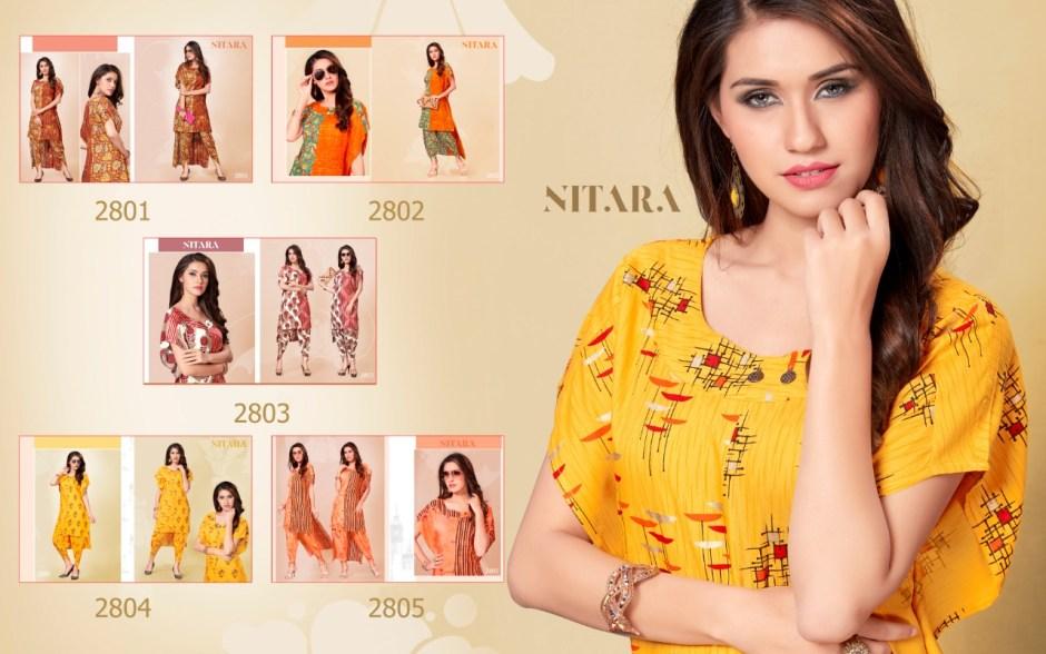Nitara launch AROKA Differenr pattern trendy look Dhoti pants with kurtis concept
