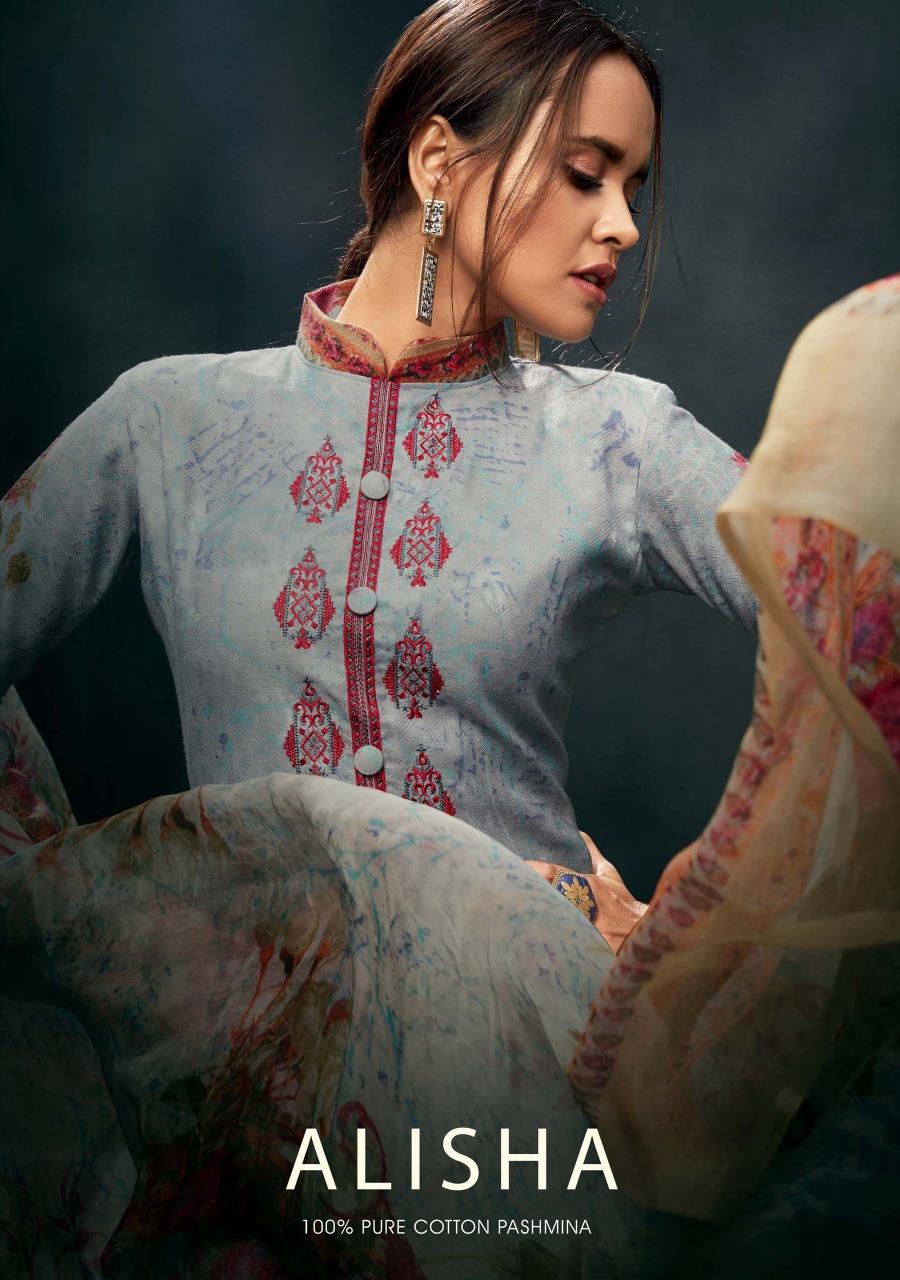 Sargam Prints alisha Pashmina Salwar Kameez Collection dealer