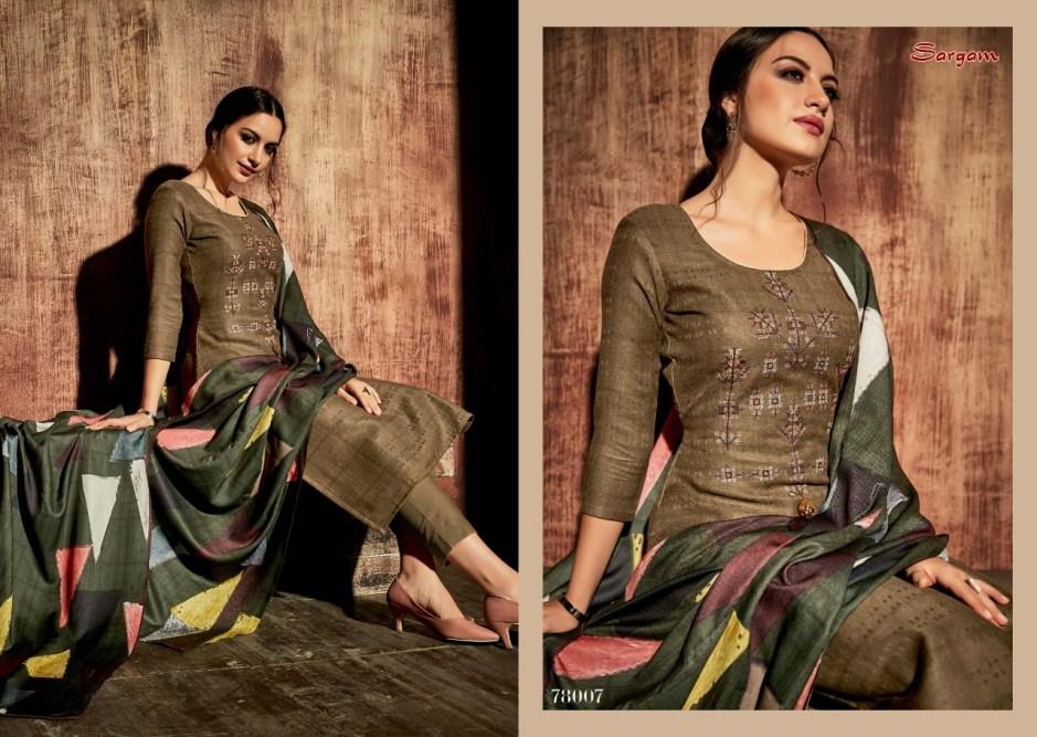Sargam prints matrix Pashmina Salwar Kameez Collection suppliers