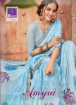 Shangrila presents amyra Simple casual wear printed  sarees collection