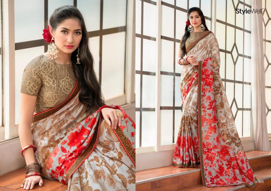 Stylewell bedazzle beautiful sarees Collection Dealer