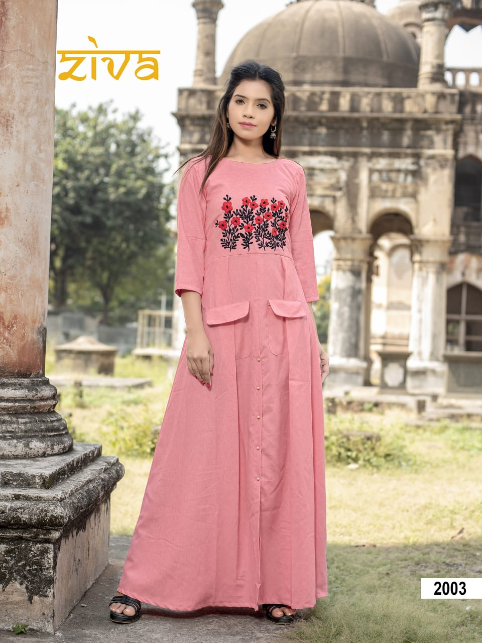 fd20cbf521 Ziva launch ziva vol 2 beautiful party wear gown style kurtis concept