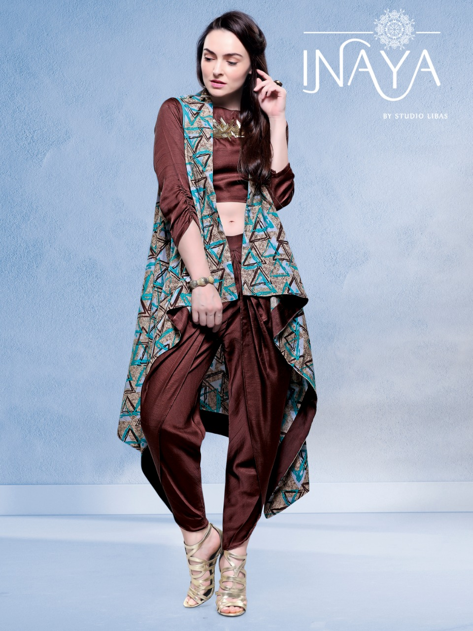 Inaya by studio launch jacket and dhoti designer party wear concept of new style jacket with dhoti