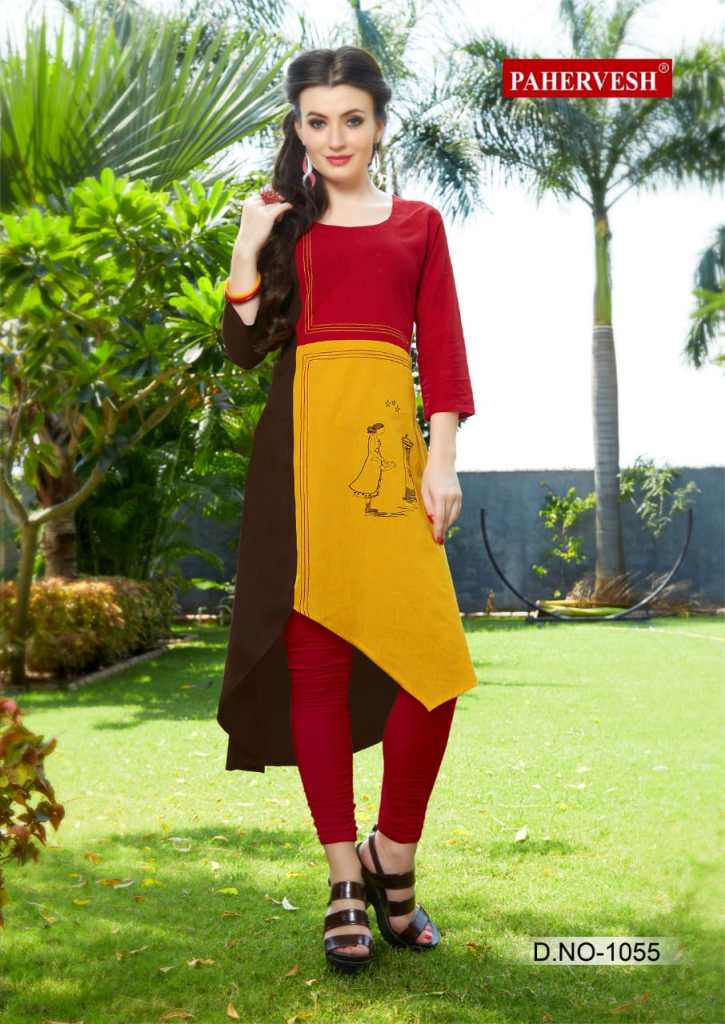 Pahervesh niharika vol 3 casual ready to wear kurtis collection