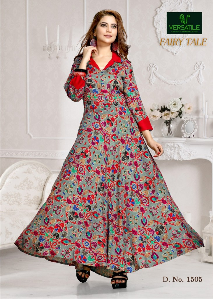 Versatile fairy tale beautiful printed long gown concept