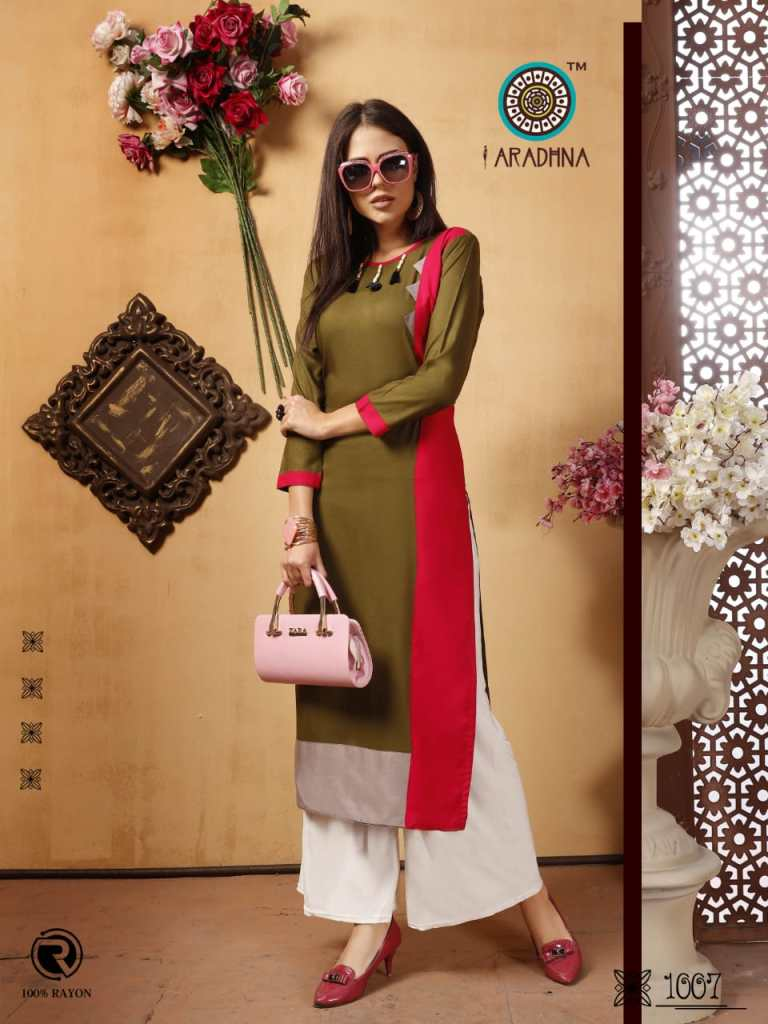 Aradhna parrot 3 ready to wear Casual kurtis concept