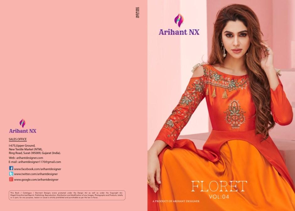 Arihant designer presenting FLORET vol 4 designer party wear concept of gowns