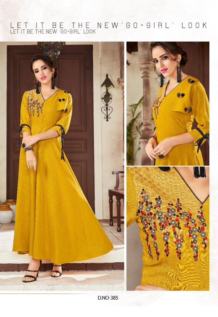 CRESCENT bY vINK presents Stylish party wear gown style kurtis concept