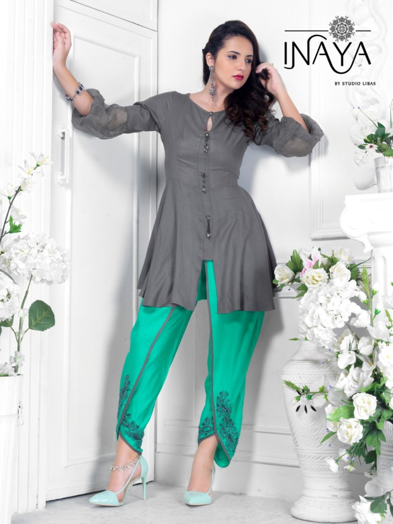 Inaya by studio tunic n tulip design no 3 stylish party wear tunic with tulip pants concept