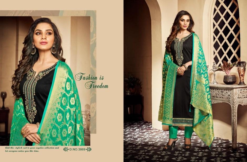 Kessi fabrics presents parampara vol 2 beautiful Simple embroidery collection of salwar kameez