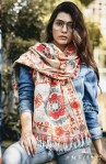 Mesmora launch wollen embroidered stylish traditional winter collection of stoles