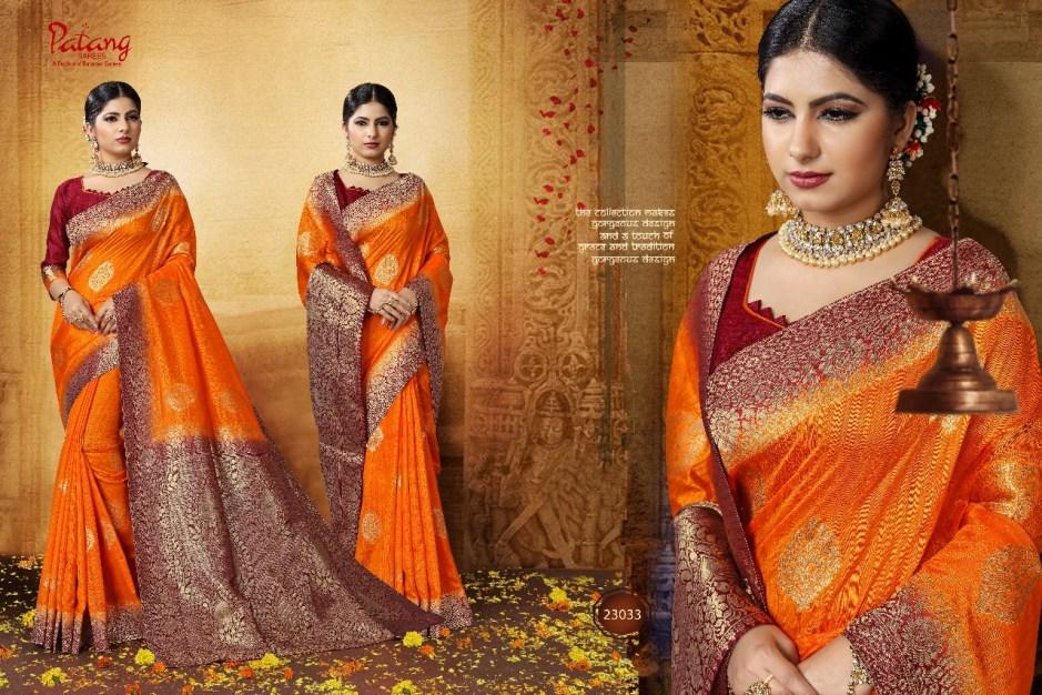 Patang kHWAAB beautiful rich look sarees collection