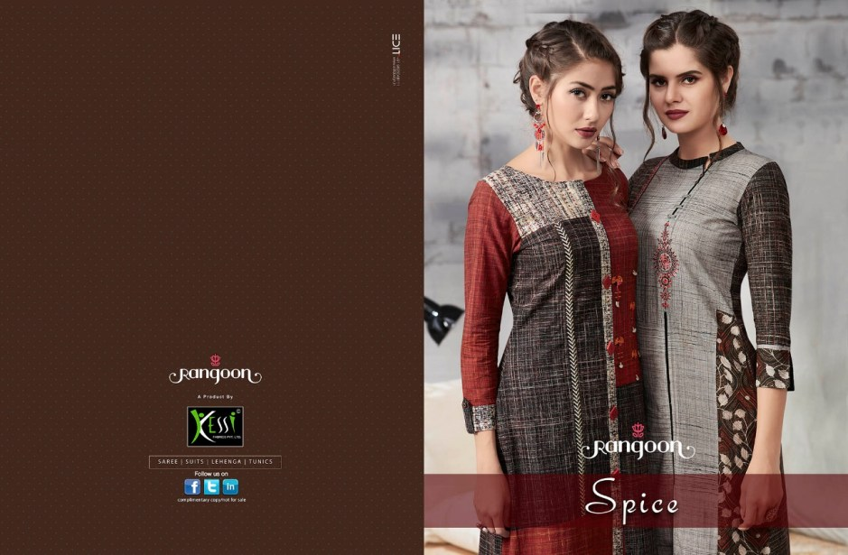 Rangoon spice casual long printed Collection of kurtis