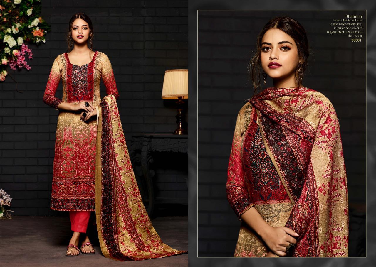 c1eebc9b67 Sargam prints SHALIMAR vol 4 Beautiful printed salwar kameez collection