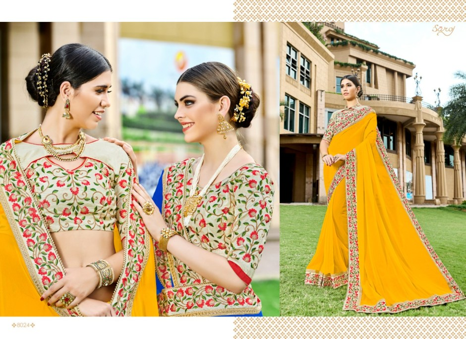 Saroj miss world 4 beautiful collection of sarees