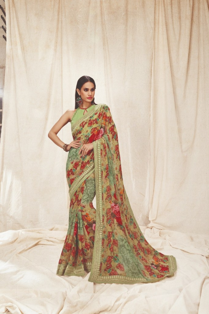 Shangrila kaamini vol 7 exclusive digital floral printed sarees collection