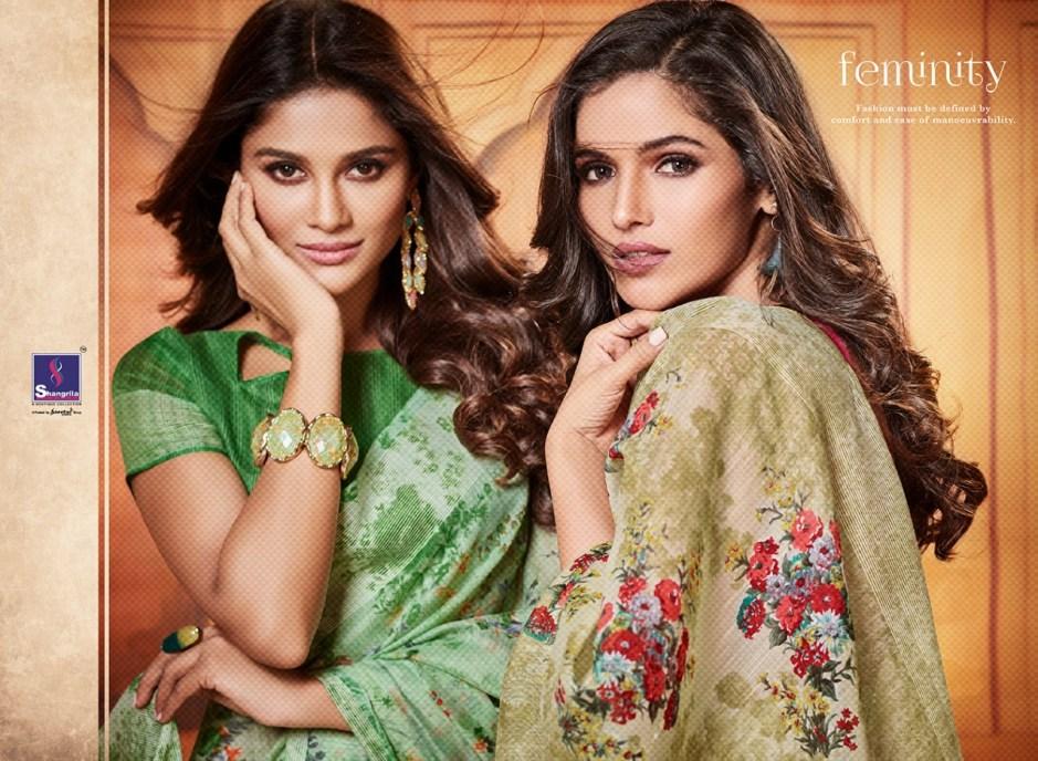 Shangrila simaaya cotton simple casual printed sarees collection