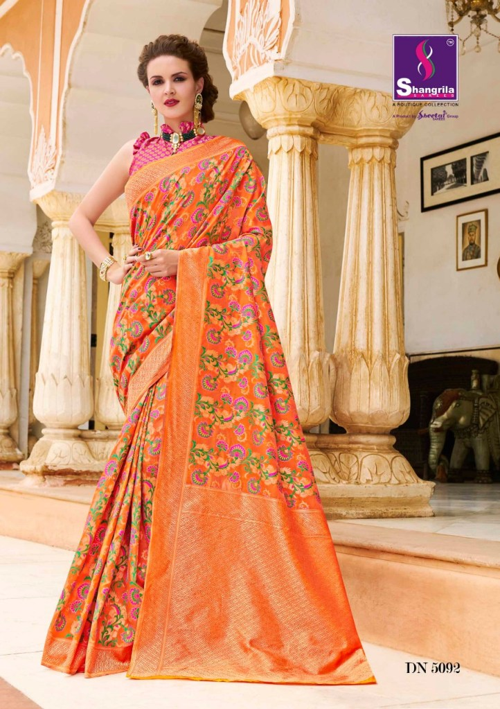 Shangrila upasna silk beautiful rich look trendy silk Sarees collection