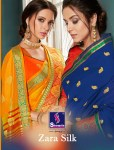 Shangrila zara silk casual trandy look sarees collection