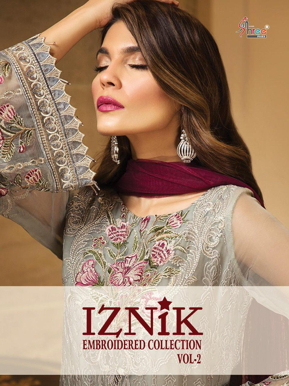 Shree fabs iZNIk eMBROIDERED collection vol 2 beautiful fancy Salwar kameez collection