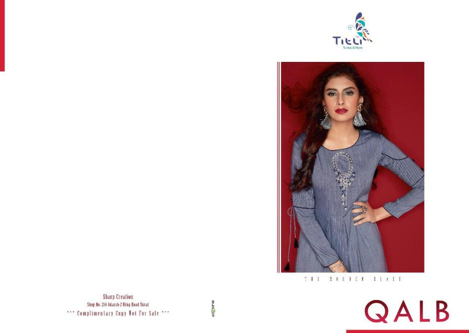 Titli qalb casual ready to wear kurtis concept