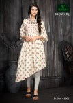 Versatile flowery beautiful casual kurtis concept